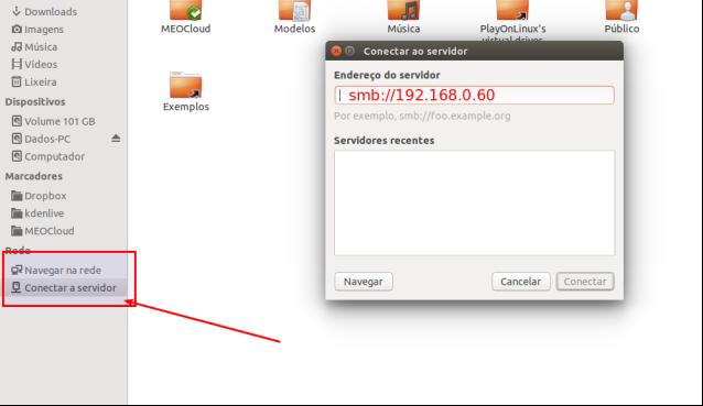Conectando a um servidor no Ubuntu