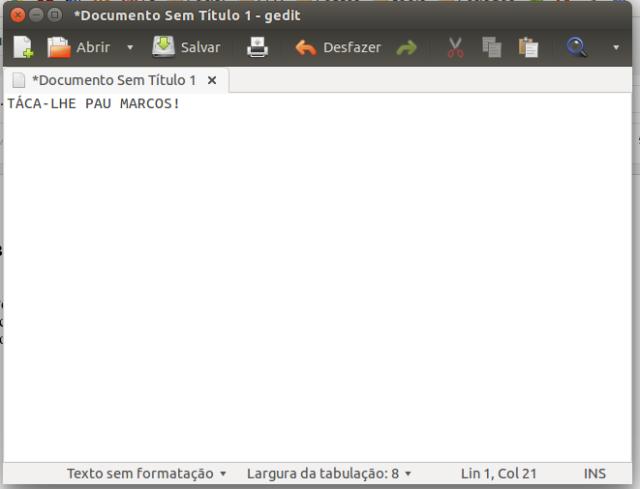 Gedit é o bloco de notas do Ubuntu