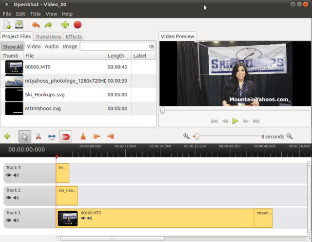 Editor de vídeo OpenShot